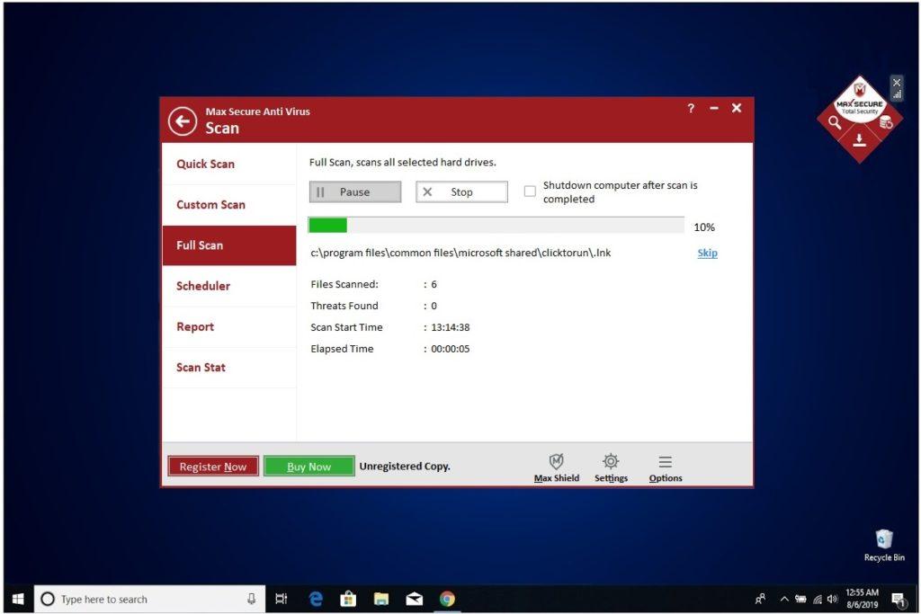 Max Secure Anti Virus Full Scan
