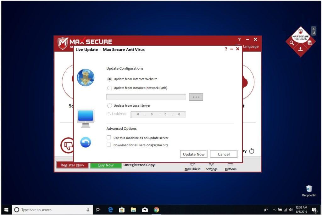 Max Secure Anti Virus Live Update