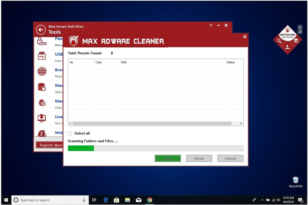 Max Secure Adware Cleaner