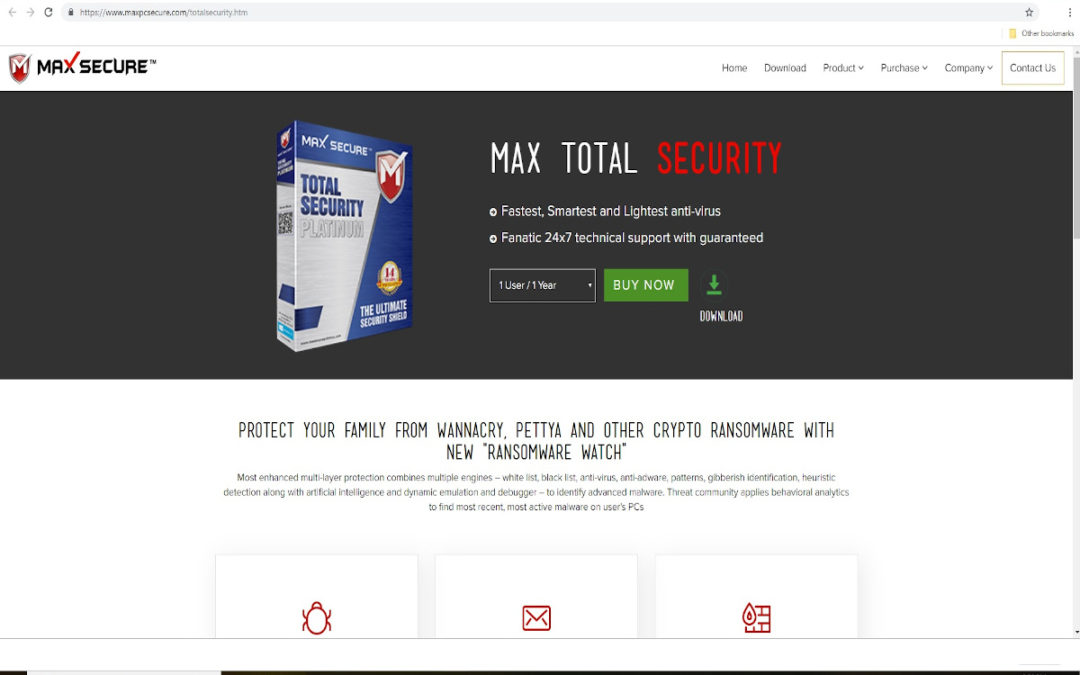 Max Secure Total Security Website