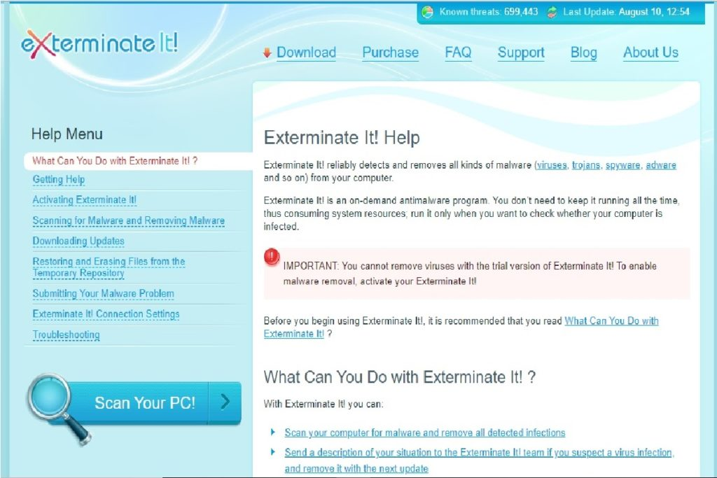 Exterminate It! Review Help