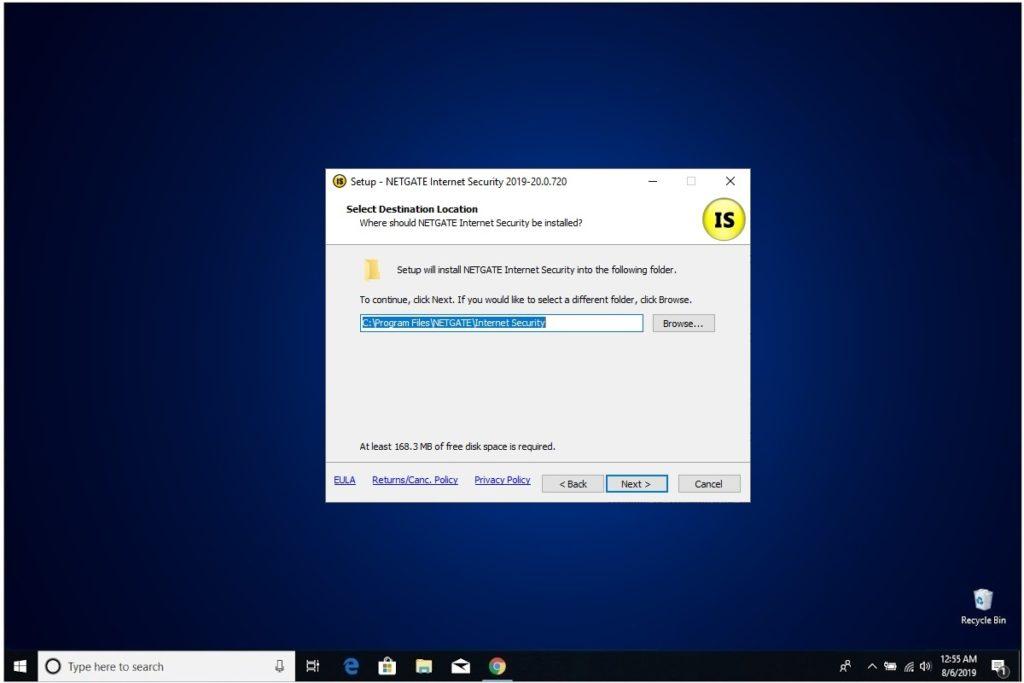 NETGATE Internet Security Installation Destination Folder