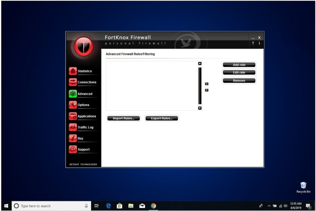 NETGATE Internet Security Review FortKnox Firewall Advanced Rules Filtering