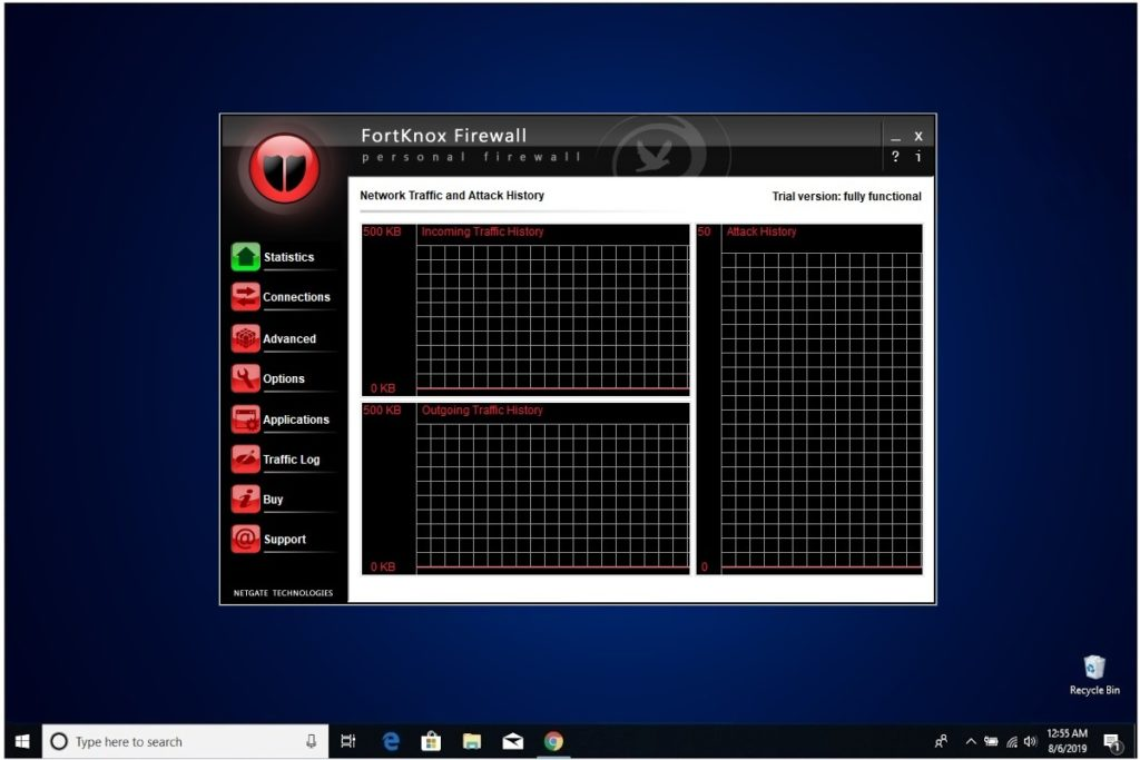 NETGATE Internet Security Review FortKnox Firewall Network Traffic