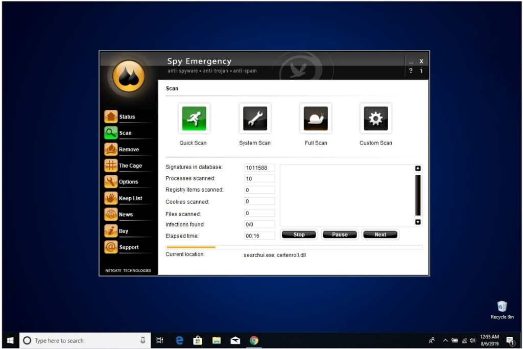 NETGATE Internet Security Review Spy Emergency Quick Scan