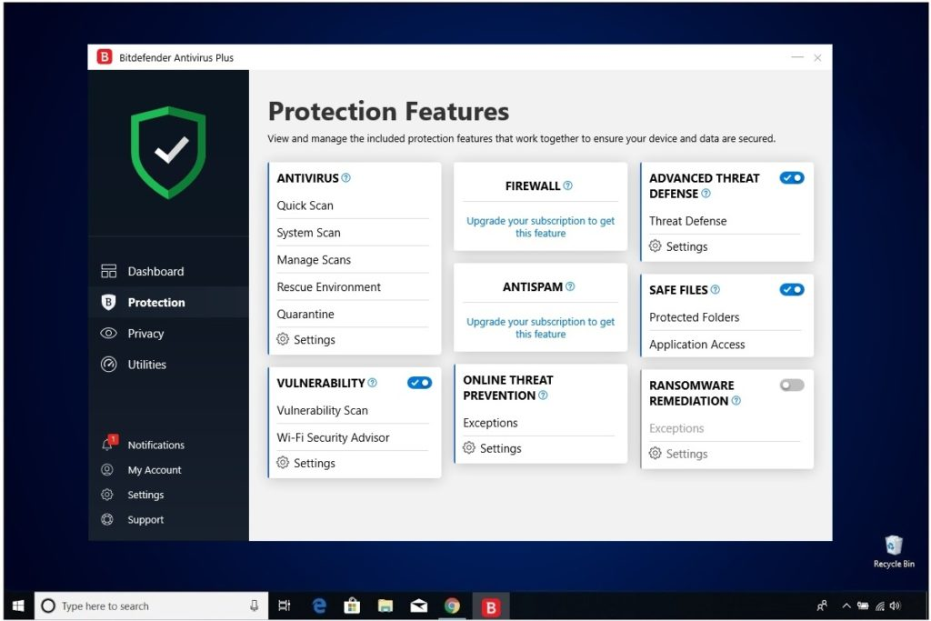 Bitdefender Antivirus Plus Review Protection Features