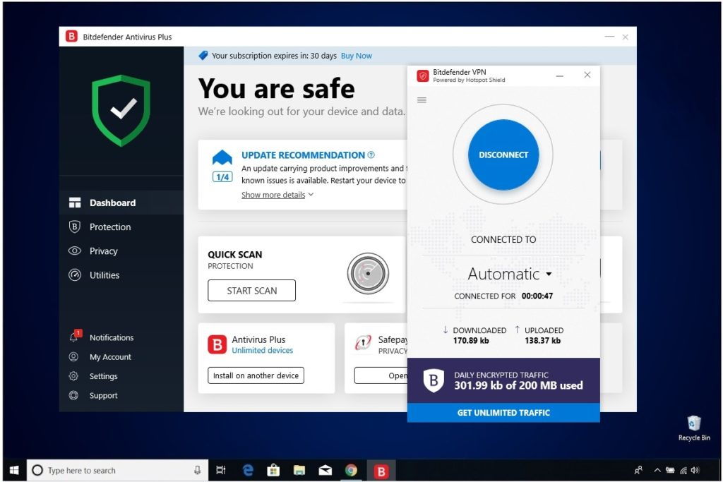 Bitdefender Antivirus Plus Review VPN