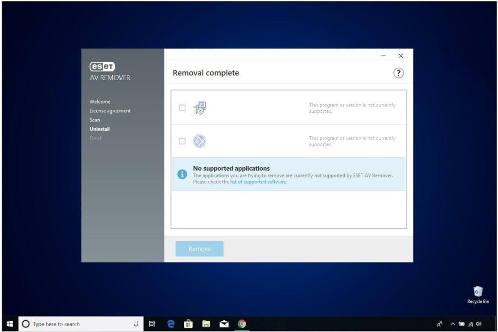 ESET NOD32 Windows Antivirus Installation AV Removal Tool Program Scan