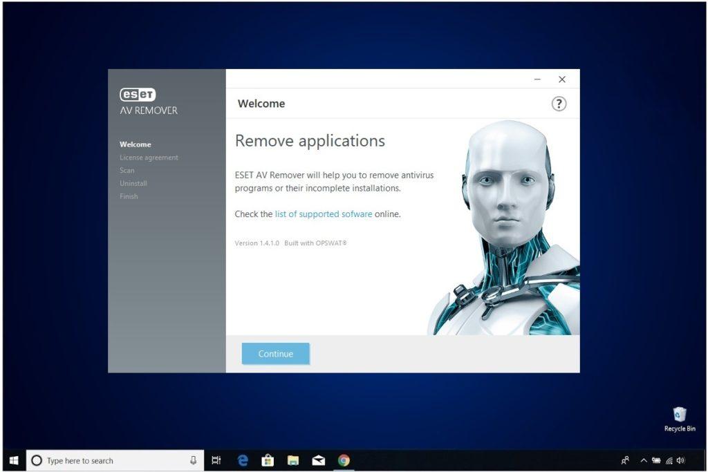 ESET NOD 32 Windows Antivirus Installation AV Remover