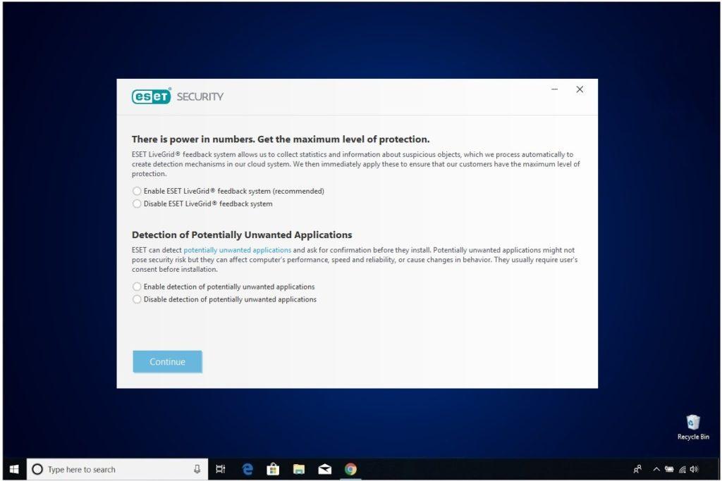 ESET NOD 32 Windows Antivirus Installation ESET Live Grid
