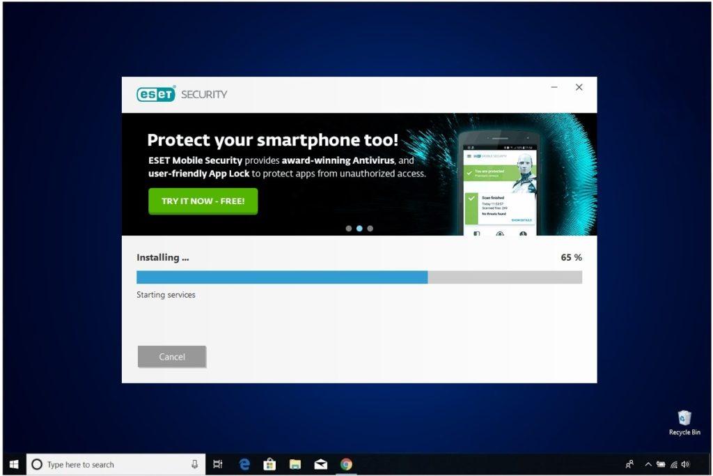 ESET NOD 32 Windows Antivirus Installation Final Install