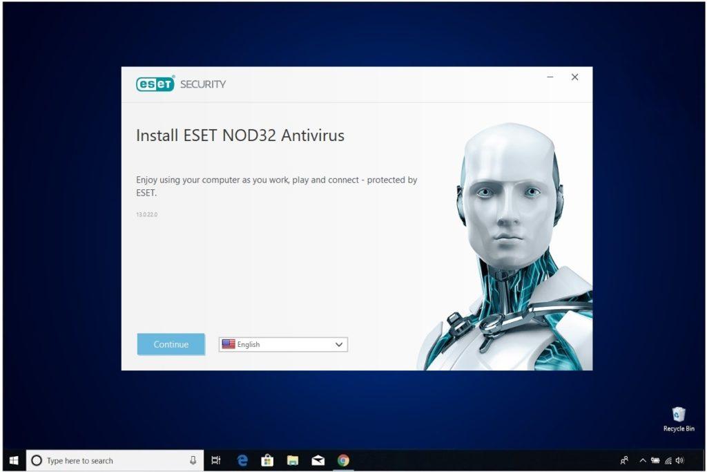 ESET NOD 32 Windows Antivirus Installation Install