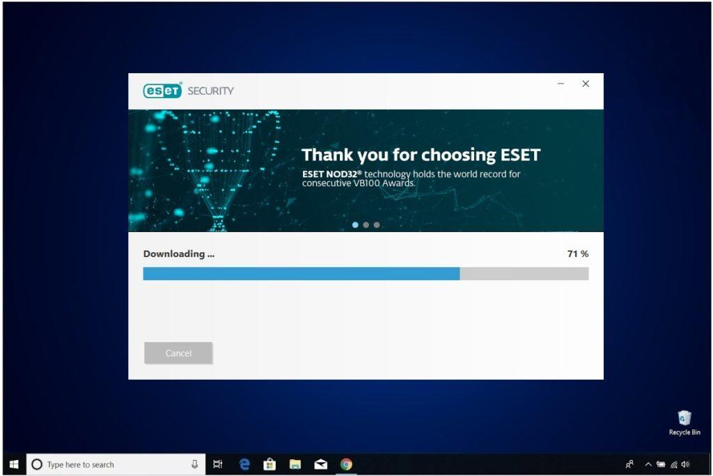ESET NOD 32 Windows Antivirus Installation Installing