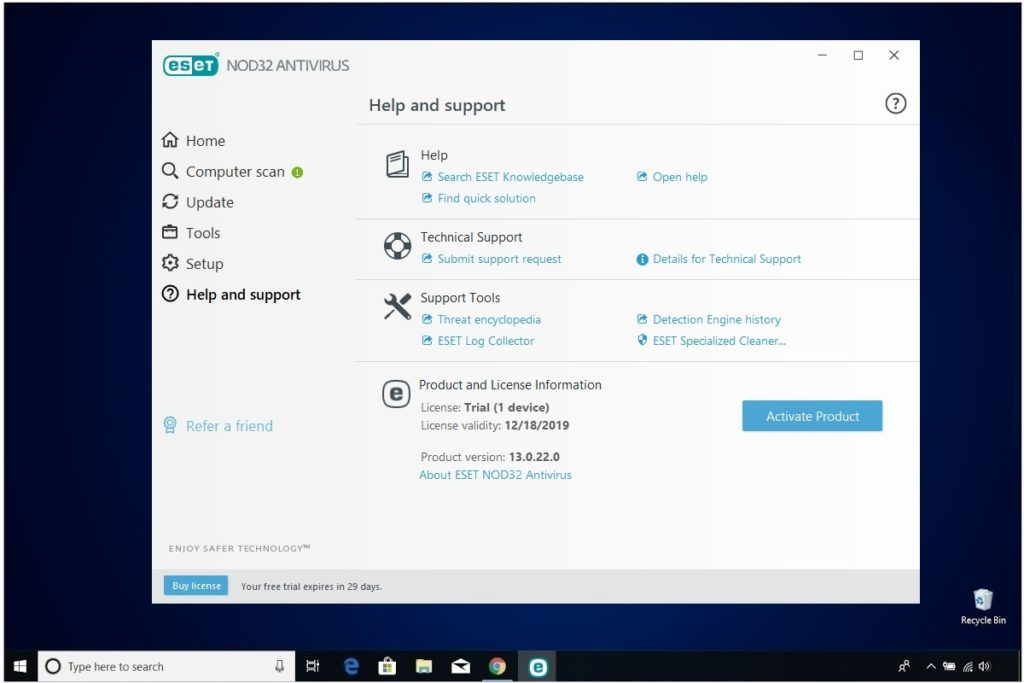 ESET NOD32 Antivirus Review Help And Support