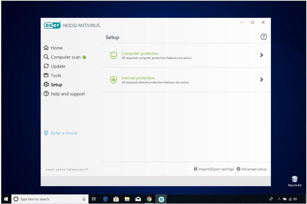 ESET NOD32 Antivirus Review Setup