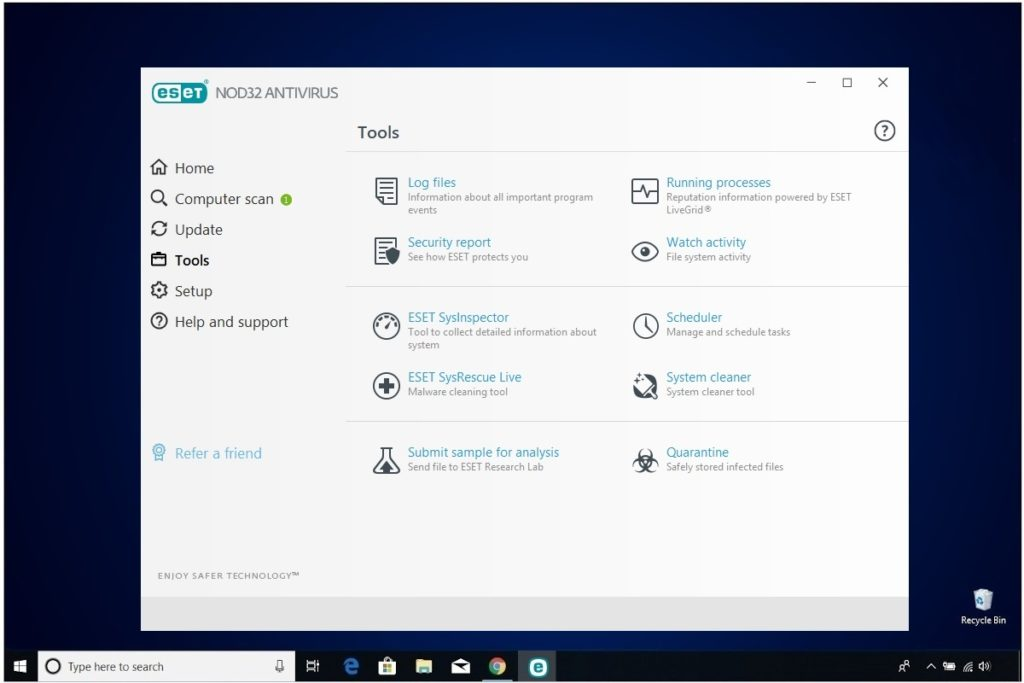 ESET NOD32 Antivirus Review Tools