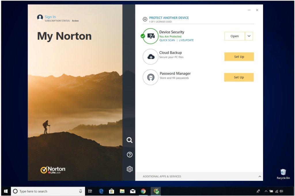 Norton Antivirus Plus Installation Device Security