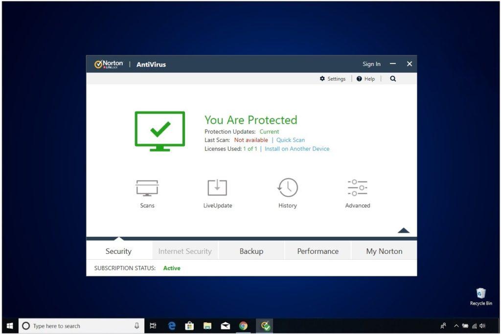 Norton Antivirus Plus Installation Security Scans