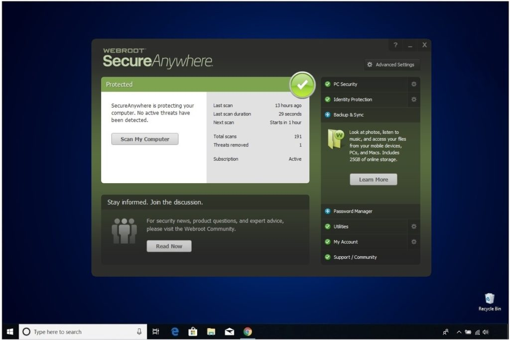Webroot Internet Security Plus Review Backup & Sync