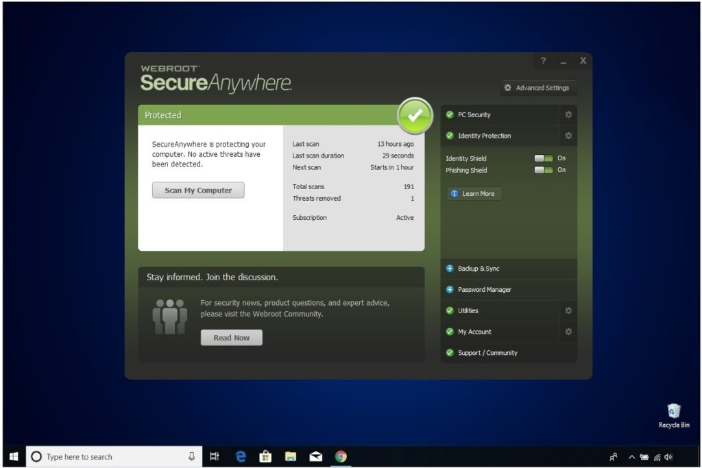 Webroot Internet Security Plus Review Identity Protection