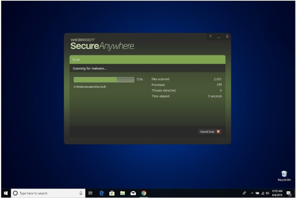 Webroot Internet Security Plus Review Scan