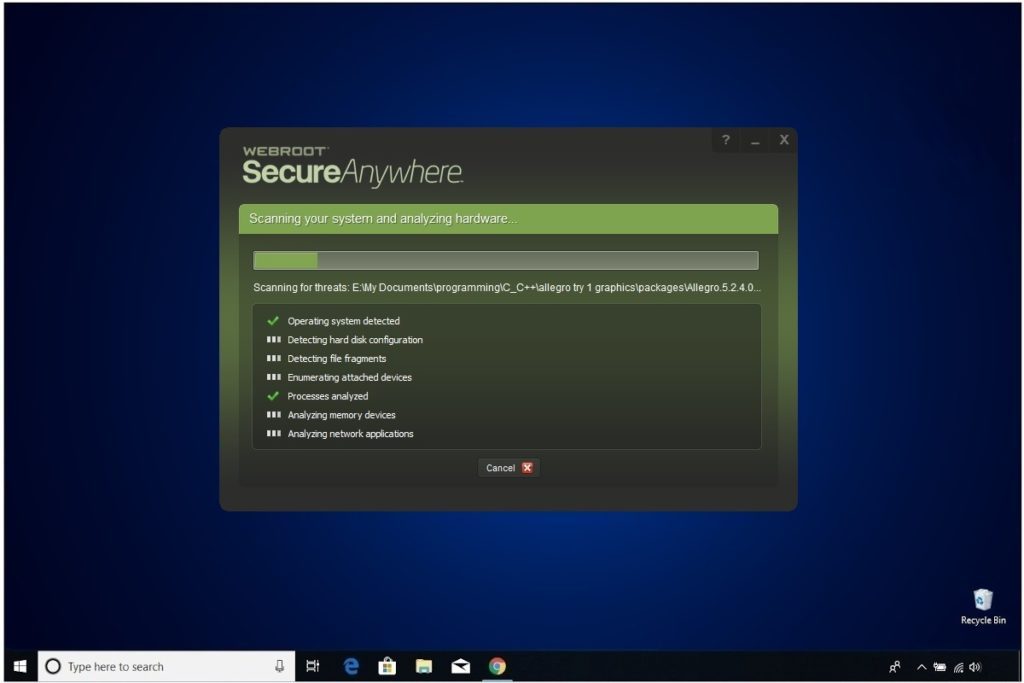 Webroot Internet Security Plus Review System Analyzer