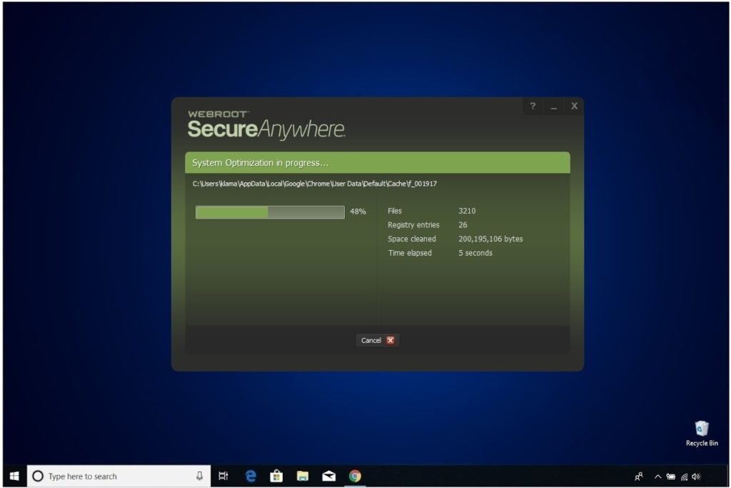 Webroot Internet Security Plus Review System Optimization