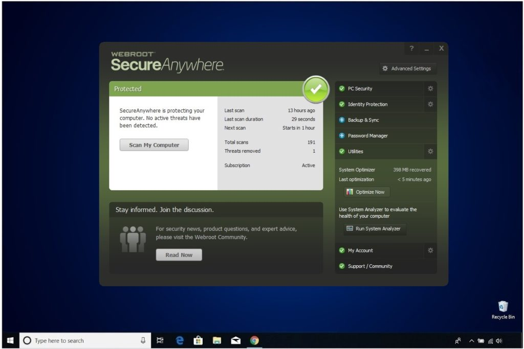Webroot Internet Security Plus Review Utilities