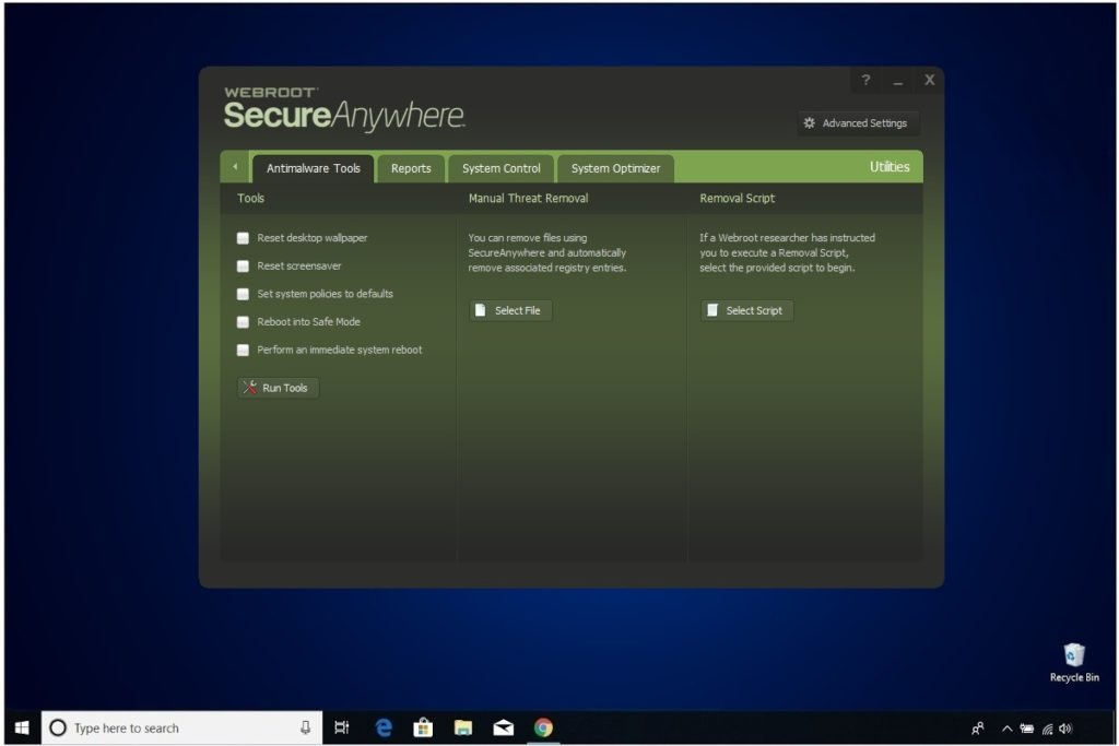 Webroot Internet Security Plus Review Utilities Antimalware Tools