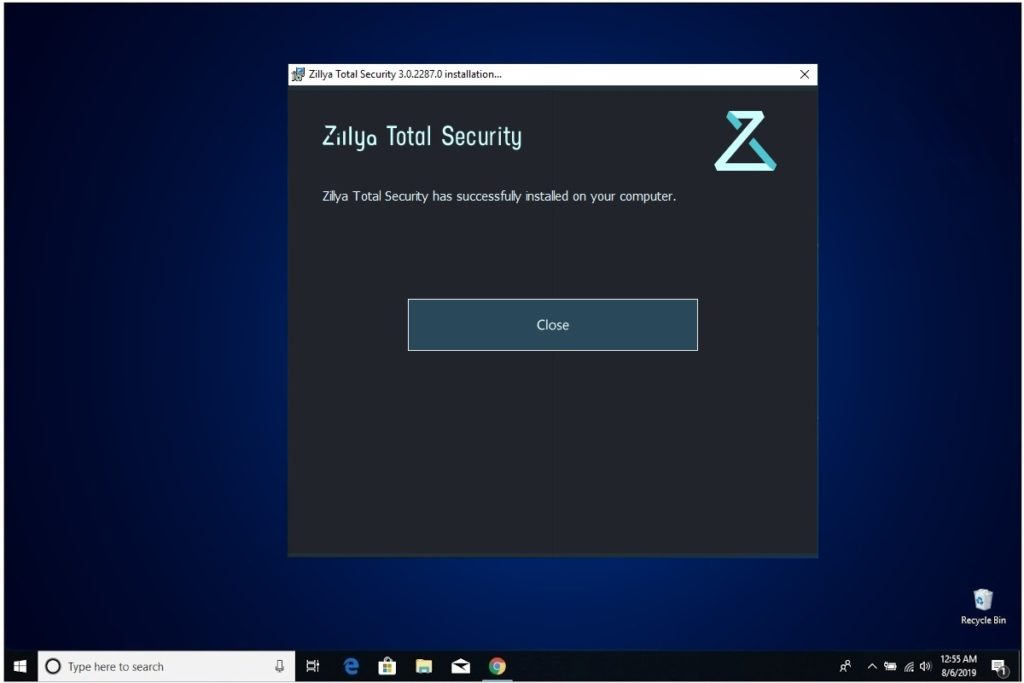 Zillya Total Security Install Complete
