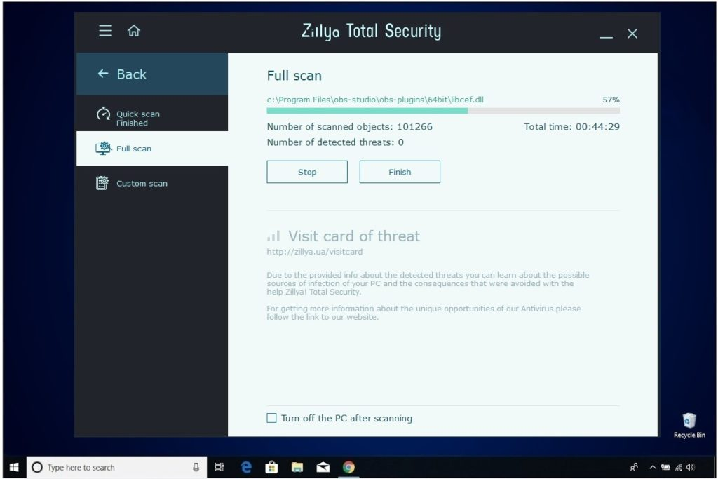 Zillya Total Security Review Full Scan