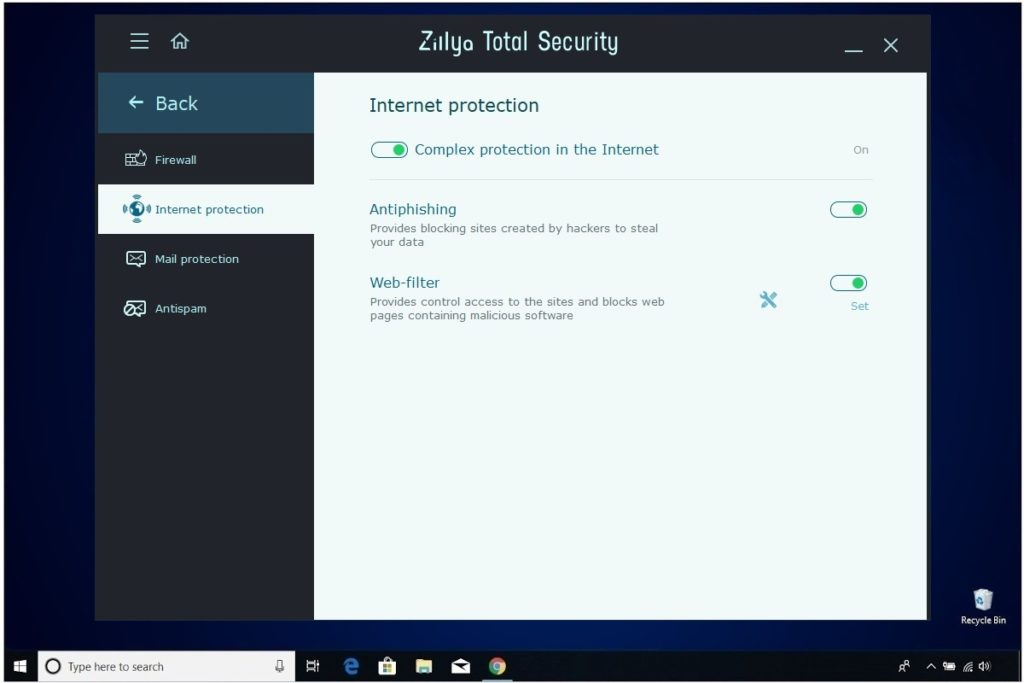 Zillya Total Security Review Internet Protection