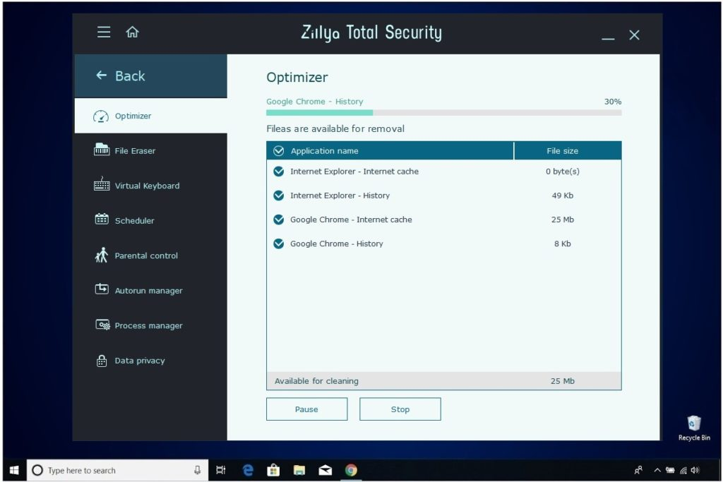 Zillya Total Security Review Optimizer