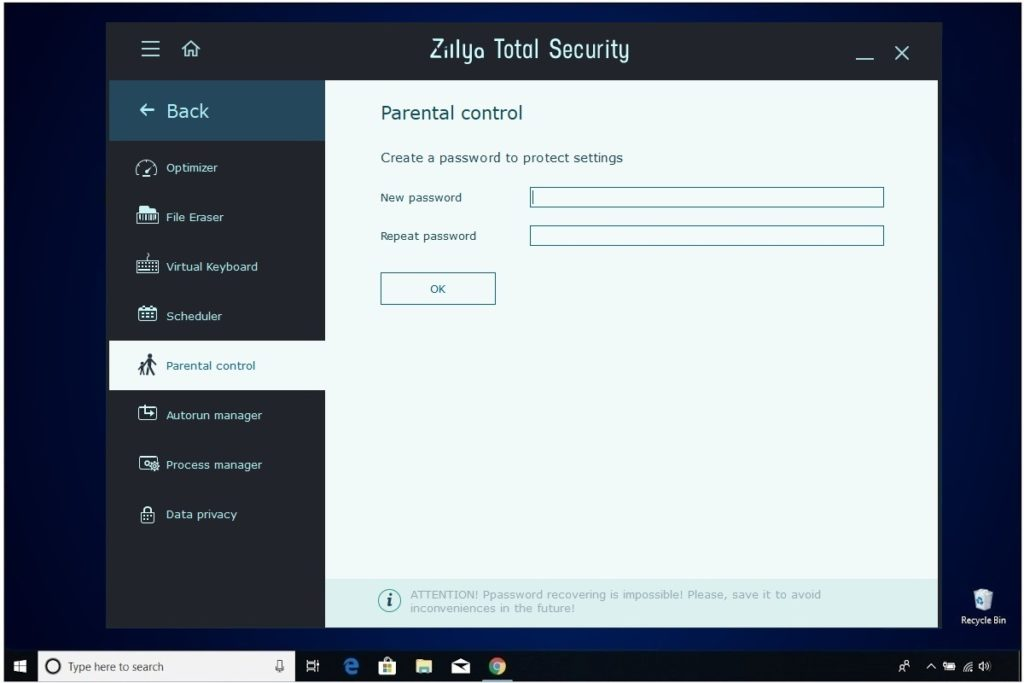 Zillya Total Security Review Parental Control