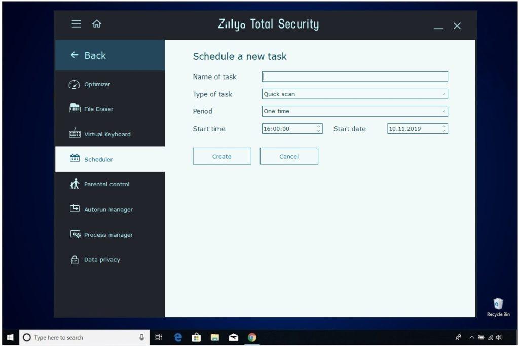 Zillya Total Security Review Scheduler