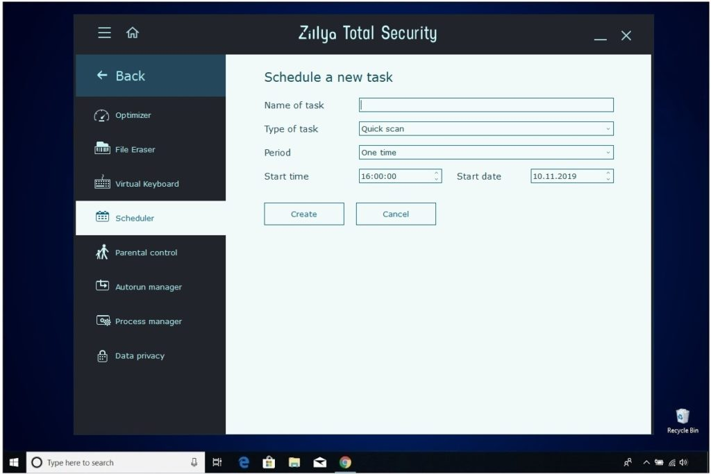 Zillya Total Security Review Scheduler