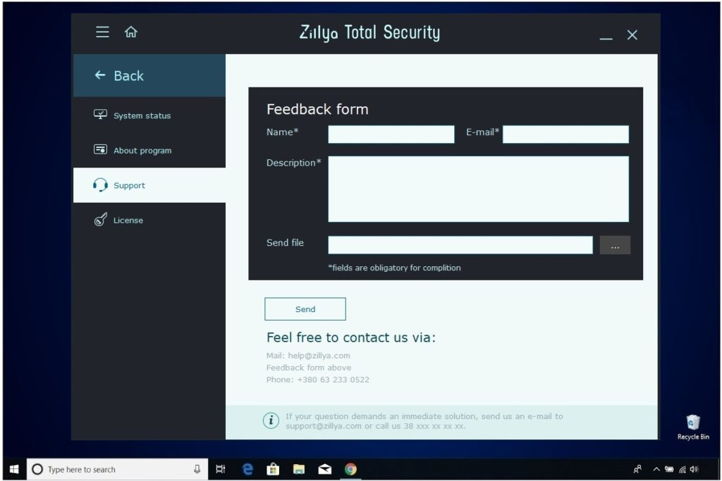 Zillya Total Security Review Support