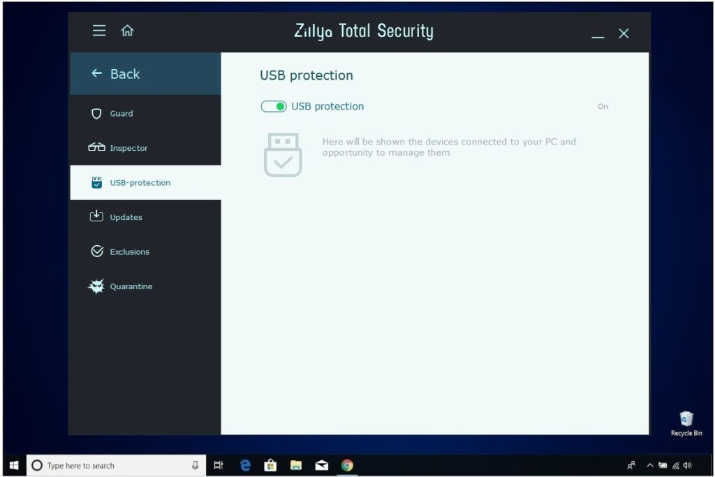 Zillya Total Security Review USB Protection