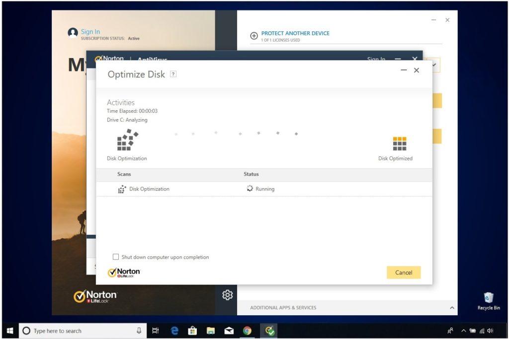 Norton Antivirus Plus Review Norton Performance Optimize Disk