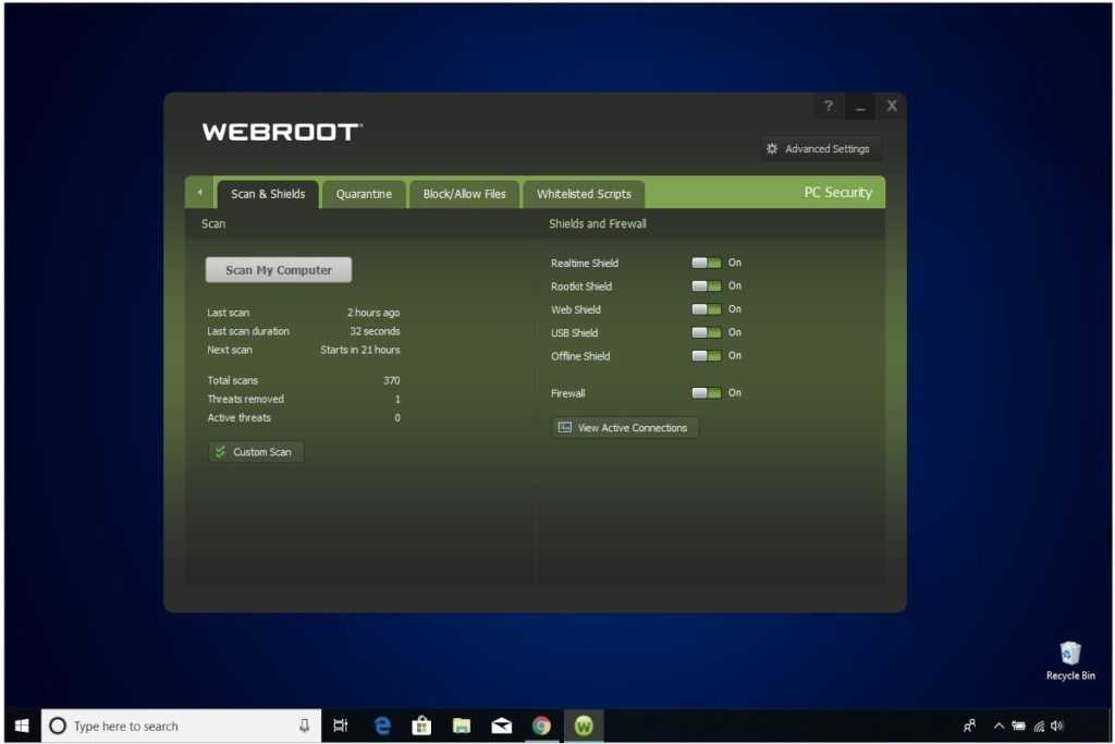 Webroot Internet Security Plus Scan And Shield