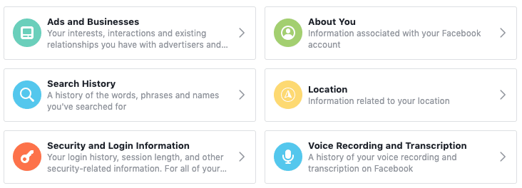 Facebook - Access Your Information 2
