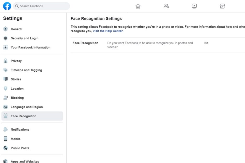 Facebook Privacy Settings Face Recognition Settings