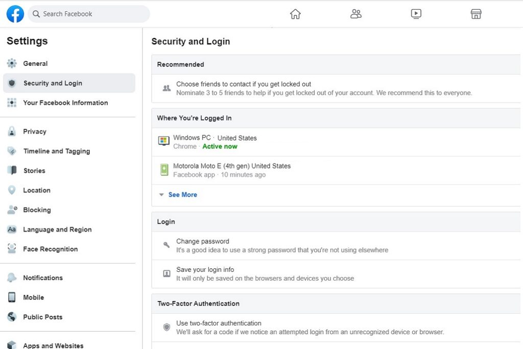 Facebook Privacy Settings Security And Login