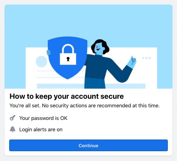 Facebook Security Checkup 2